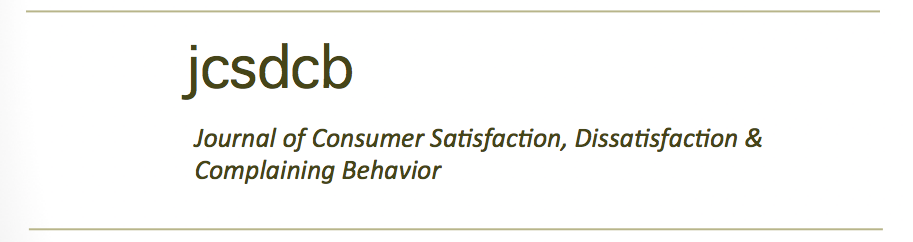 Consumer Satisfaction, Dissatisfaction & Complaining Behavior